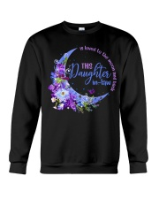 This daughter-in-law  is loved to the moon back Crewneck Sweatshirt thumbnail