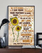 To Grandma - I Love You With All My Heart 16x24 Poster lifestyle-poster-2