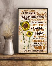 To Grandma - I Love You With All My Heart 16x24 Poster lifestyle-poster-3