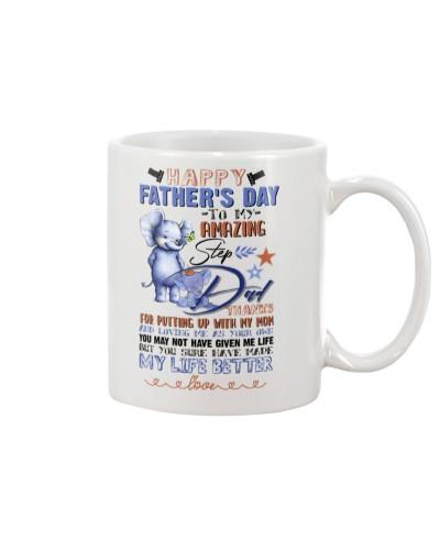 MUG - TO MY BONUS DAD - FATHER'S DAY