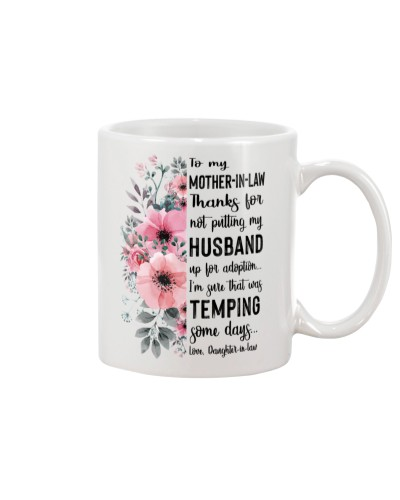 MUG - TO MOTHER-IN-LAW - FLOWER - THANKS FOR
