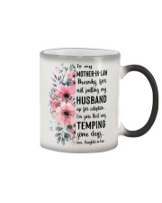 MUG - TO MOTHER-IN-LAW - FLOWER - THANKS FOR Color Changing Mug thumbnail