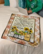 "FLEECE BLANKET - TO MY MOM - SUNFLOWER Small Fleece Blanket - 30"" x 40"" aos-coral-fleece-blanket-30x40-lifestyle-front-07"