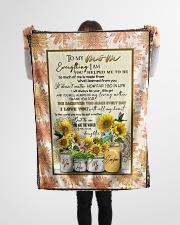 "FLEECE BLANKET - TO MY MOM - SUNFLOWER Small Fleece Blanket - 30"" x 40"" aos-coral-fleece-blanket-30x40-lifestyle-front-14"