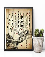 To My Daughter - Wolf - Wherever Your Journey 16x24 Poster lifestyle-poster-8