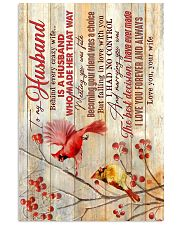 TO MY HUSBAND - CARDINAL - I LOVE YOU 16x24 Poster front