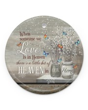 Angel - When Someone We Love Is In Heaven Circle ornament - single (porcelain) front