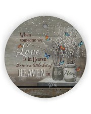 Angel - When Someone We Love Is In Heaven Circle ornament - single (wood) thumbnail