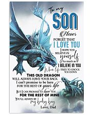 DAD TO SON 16x24 Poster front