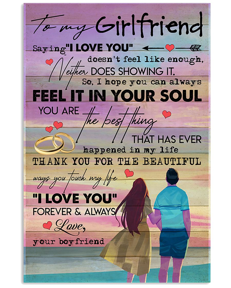 TO MY GIRLFRIEND - COUPLE - I LOVE YOU 16x24 Poster
