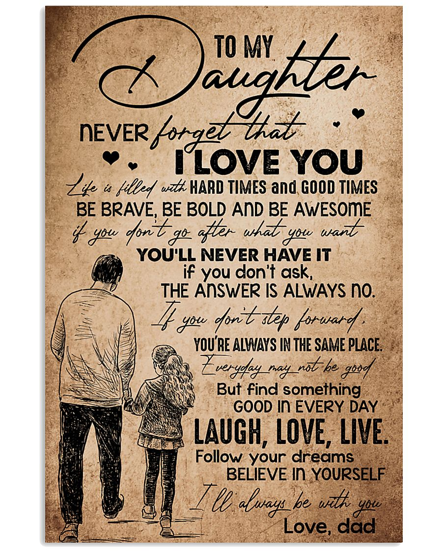 TO DAUGHTER - HANDS - BE WITH YOU 16x24 Poster