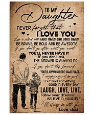 TO DAUGHTER - HANDS - BE WITH YOU 16x24 Poster front
