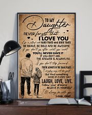 TO DAUGHTER - HANDS - BE WITH YOU 16x24 Poster lifestyle-poster-2