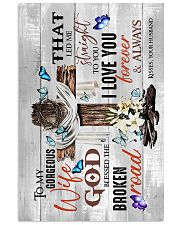 To My Wife - God Blessed The Broken Road - Poster 16x24 Poster front