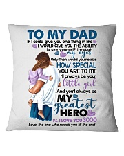 DAUGHTER TO DAD Square Pillowcase thumbnail