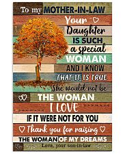 TO MY MOTHER-IN-LAW 16x24 Poster front