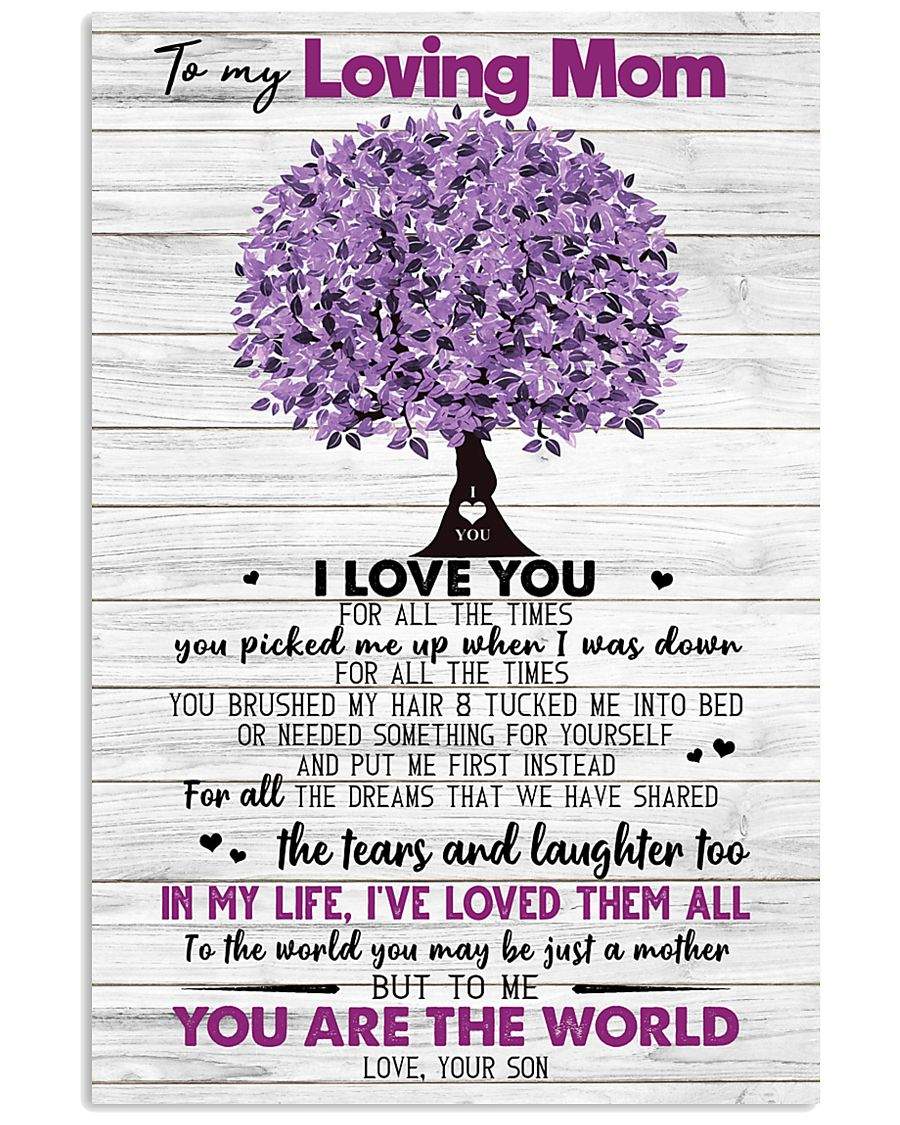 TO MY MOM - TREE - MY HERO 16x24 Poster