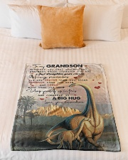 """To Grandson - Whenever You Feel Overwhelmed Small Fleece Blanket - 30"""" x 40"""" aos-coral-fleece-blanket-30x40-lifestyle-front-04"""