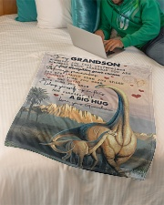 """To Grandson - Whenever You Feel Overwhelmed Small Fleece Blanket - 30"""" x 40"""" aos-coral-fleece-blanket-30x40-lifestyle-front-07"""