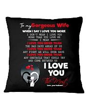 TO MY GORGEOUS WIFE Square Pillowcase thumbnail