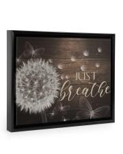Just Breathe - Canvas Floating Framed Canvas Prints Black tile