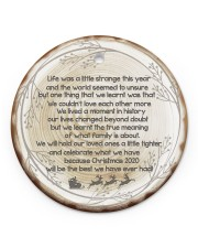 Christmas - Life Was A Little Strange This Year  Circle ornament - single (porcelain) front