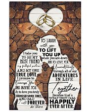 Husband to Wife - I Take You To Be My Best Friend 16x24 Poster front