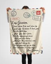 """Gift For Grandson - Fleece Blanket  Small Fleece Blanket - 30"""" x 40"""" aos-coral-fleece-blanket-30x40-lifestyle-front-14"""