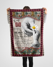 """FLEECE BLANKET - TO MY DAD - HAND - IF I COULD Small Fleece Blanket - 30"""" x 40"""" aos-coral-fleece-blanket-30x40-lifestyle-front-14"""