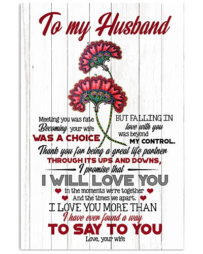 TO MY HUSBAND - FLOWER - I LOVE YOU