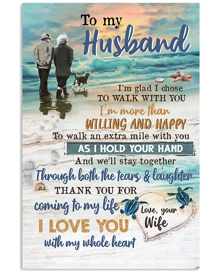 TO MY HUSBAND - COUPLE - I LOVE YOU 16x24 Poster