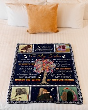 "To My Sister - Fleece Blanket Small Fleece Blanket - 30"" x 40"" aos-coral-fleece-blanket-30x40-lifestyle-front-04"