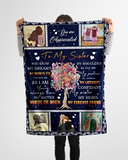 "To My Sister - Fleece Blanket Small Fleece Blanket - 30"" x 40"" aos-coral-fleece-blanket-30x40-lifestyle-front-14"