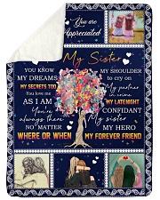 """To My Sister - Fleece Blanket Large Sherpa Fleece Blanket - 60"""" x 80"""" thumbnail"""