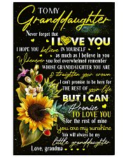 Grandma to Granddaughter - You Are My Sunshine 16x24 Poster front