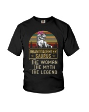 TO MY GRANDDAUGHTER - T REX - THE LEGEND Youth T-Shirt thumbnail