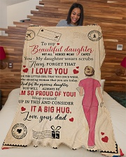 """To My Daughter - Nurse - Not All Heroes Wear Capes Large Fleece Blanket - 60"""" x 80"""" aos-coral-fleece-blanket-60x80-lifestyle-front-04"""