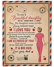 """To My Daughter - Nurse - Not All Heroes Wear Capes Large Fleece Blanket - 60"""" x 80"""" front"""