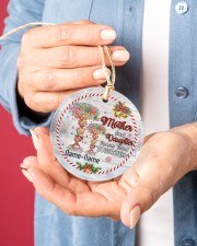 Christmas - Mother And Daughter Forever Linked  Circle ornament - single (porcelain) aos-circle-ornament-single-porcelain-lifestyles-01