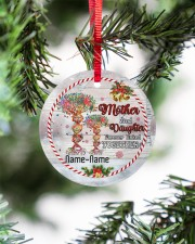 Christmas - Mother And Daughter Forever Linked  Circle ornament - single (porcelain) aos-circle-ornament-single-porcelain-lifestyles-07