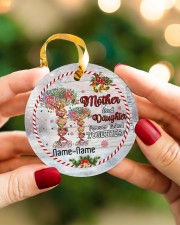 Christmas - Mother And Daughter Forever Linked  Circle ornament - single (porcelain) aos-circle-ornament-single-porcelain-lifestyles-08