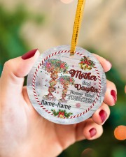Christmas - Mother And Daughter Forever Linked  Circle ornament - single (porcelain) aos-circle-ornament-single-porcelain-lifestyles-09