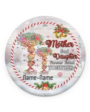Christmas - Mother And Daughter Forever Linked  Circle ornament - single (porcelain) front