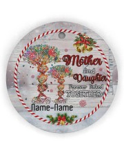 Christmas - Mother And Daughter Forever Linked  Circle Ornament (Wood tile