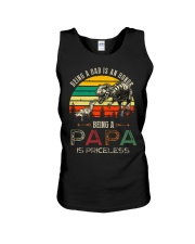 GRANDPA AND DAD - DINO - BEING A DAD IS AN HONOR Unisex Tank thumbnail