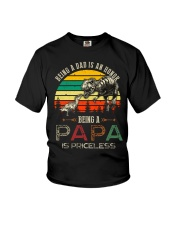 GRANDPA AND DAD - DINO - BEING A DAD IS AN HONOR Youth T-Shirt thumbnail