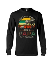 GRANDPA AND DAD - DINO - BEING A DAD IS AN HONOR Long Sleeve Tee thumbnail