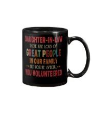 MUG - DAUGHTER-IN-LAW - VINTAGE - YOU VOLUNTEERED Mug front