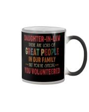 MUG - DAUGHTER-IN-LAW - VINTAGE - YOU VOLUNTEERED Color Changing Mug thumbnail