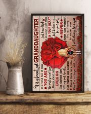 To Granddaughter - You Are The Most Special Rose 16x24 Poster lifestyle-poster-3